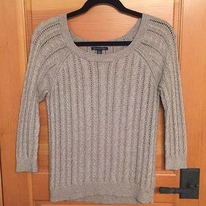 American Eagle 3/4 sleeve length oatmeal sweater